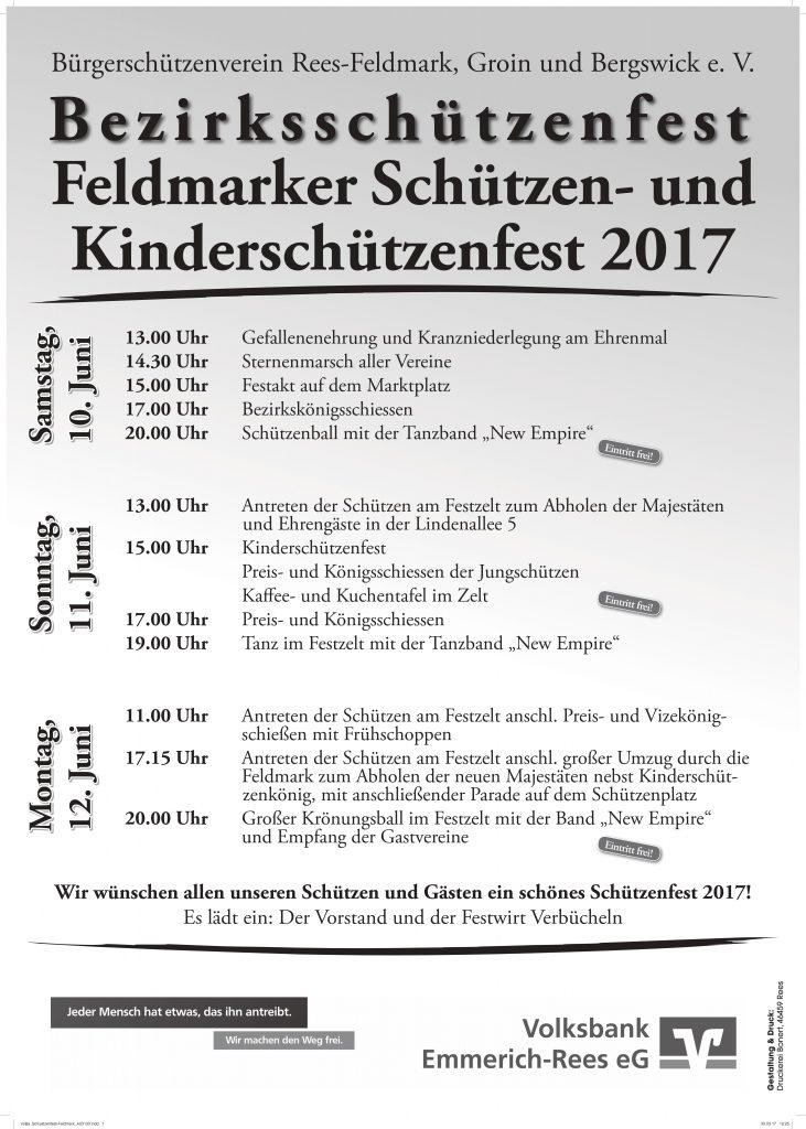 Plakat Feldmarker Schützenfest